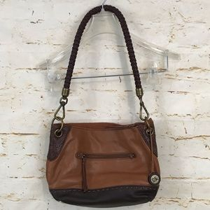 The Sak Indio leather Demi pocketbook handbag euc